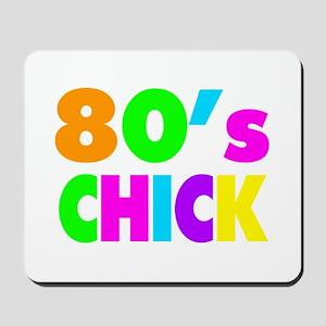 Neon Colors 80's Chick Mousepad
