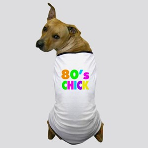 Neon Colors 80's Chick Dog T-Shirt
