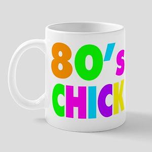 Neon Colors 80's Chick Mug