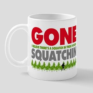 Bigfoot Hiding In Woods Gone Squatchin Mug
