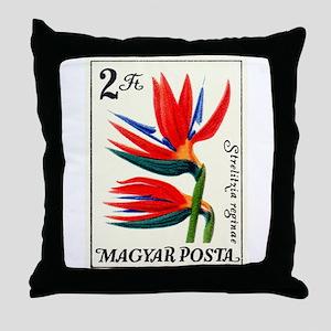 1965 Hungary Bird of Paradise Postage Stamp Throw