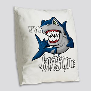 I'm Jawesome Burlap Throw Pillow