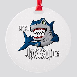 I'm Jawesome Round Ornament