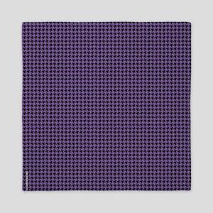 Houndstooth Purple Queen Duvet
