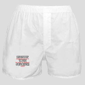 Bigfoot Sasquatch Saying Boxer Shorts