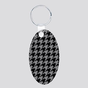Houndstooth Grey Keychains