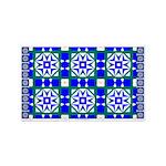 Blue Snowflake 3'x5' Area Rug