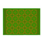 Brown And Green Megalith 5'x7'Area Rug