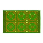 Brown And Green Megalith 3'x5' Area Rug