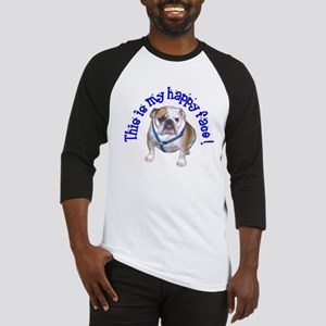 English Bulldog Happy Face Baseball Jersey