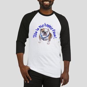 English Bulldog Happy Face Baseball Jersey