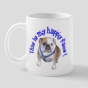 English Bulldog Happy Face Mug