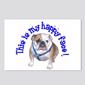 English Bulldog Happy Face Postcards (Package of 8
