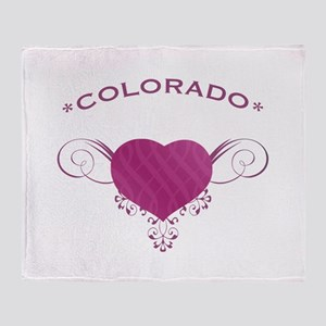 Colorado State (Heart) Gifts Throw Blanket