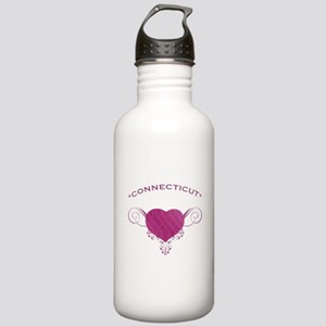 Connecticut State (Heart) Gifts Stainless Water Bo