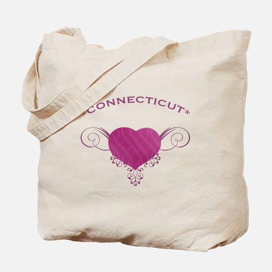 Connecticut State (Heart) Gifts Tote Bag