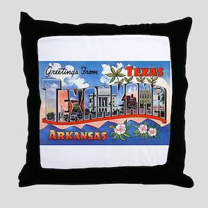 Texarkana Arkansas Texas Throw Pillow