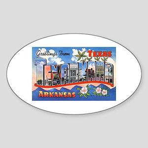 Texarkana Arkansas Texas Oval Sticker