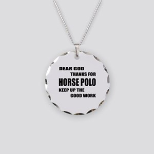 Dear god thanks for Horse Po Necklace Circle Charm