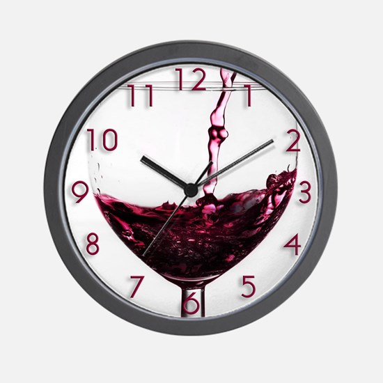 Red Red Wine Wall Clock