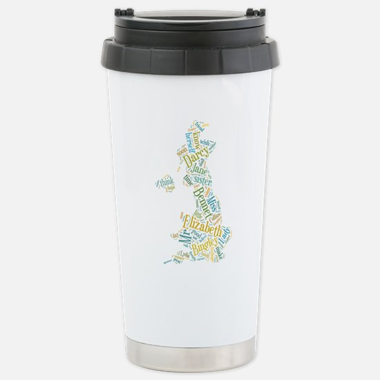 Pride and Prejudice Map Travel Mug