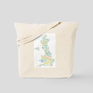 Pride and Prejudice Map Tote Bag