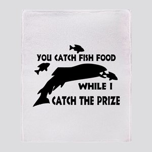 You Catch Fish Food Throw Blanket