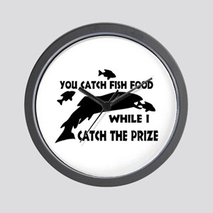 You Catch Fish Food Wall Clock