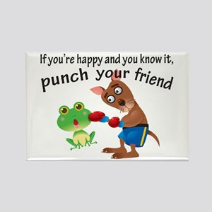 Happy & You Know It Punch Your Friend Rectangle Ma