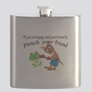Happy & You Know It Punch Your Friend Flask