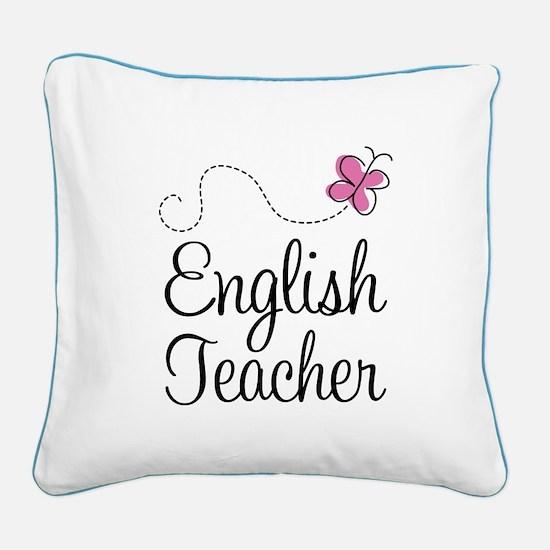 English Teacher Square Canvas Pillow
