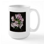 White Alstromeria -2 Images - Large Mug