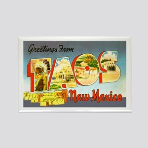 Taos New Mexico Greetings Rectangle Magnet