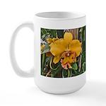 Yellow Cattleya Orchid Large Mug