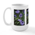 Purple Irises #1 Large Mug