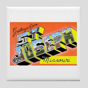 St. Joseph Missouri Greetings Tile Coaster