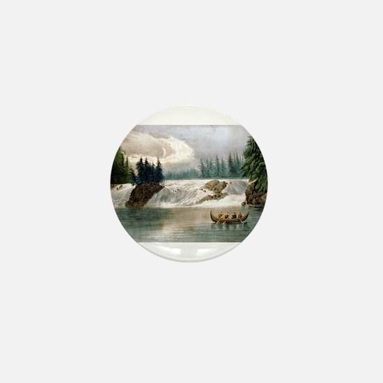 Falls of the Ottawa River Canada - 1856 Mini Butto
