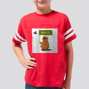 Peace slow loris Youth Football Shirt