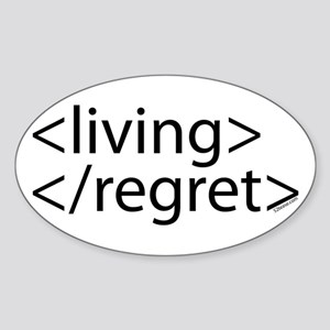 Begin Living End Regret HTML Oval Sticker