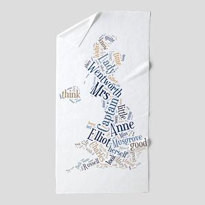 Persuasion Word Cloud Beach Towel
