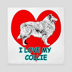 I Love My Collie Queen Duvet