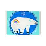 Polar Bear Rectangle Magnet (100 pack)