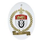 GAUDREAUX Family Crest Oval Ornament