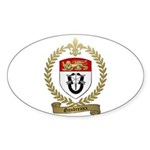 GAUDREAUX Family Crest Oval Sticker