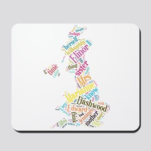 Sense and Sensibility Word Cloud Mousepad