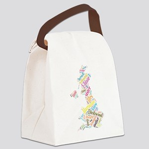 Sense and Sensibility Word Cloud Canvas Lunch Bag