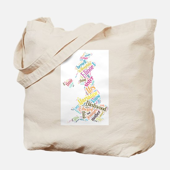 Sense and Sensibility Word Cloud Tote Bag