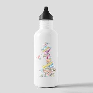 Sense and Sensibility Word Cloud Water Bottle