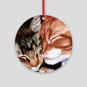 Kitty Kisses Ornament (Round)