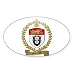 GODREAU Family Crest Oval Sticker